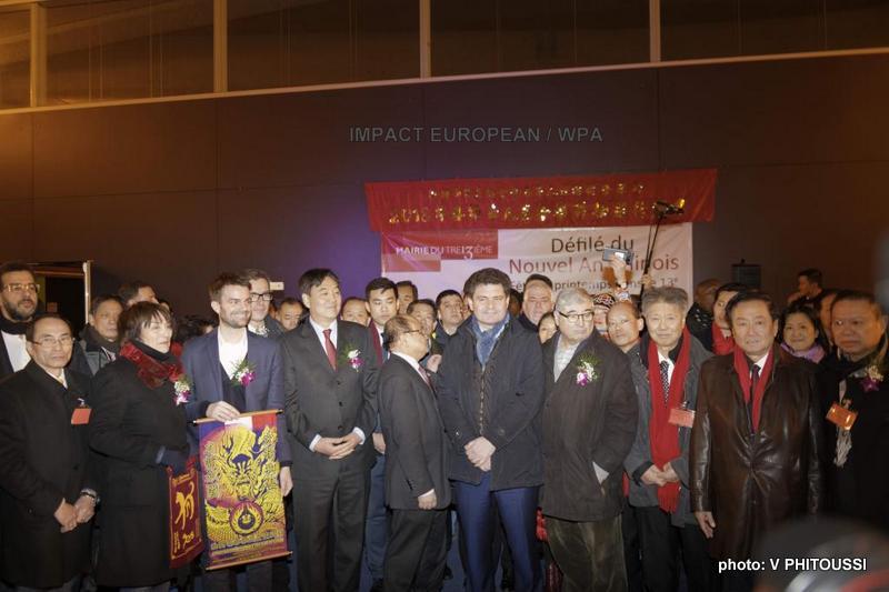 Son Excellence Zhai Jun, Ambassadeur de la République Populaire de Chine en France accueilli par Trinh Huy, Président de l'ARFOI et Président Directeur Général de Paris Store au Nouvel An Chinois