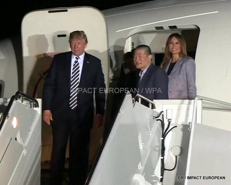 Donald et Melania Trump ont accueilli les trois Américains libérés par Pyongyang