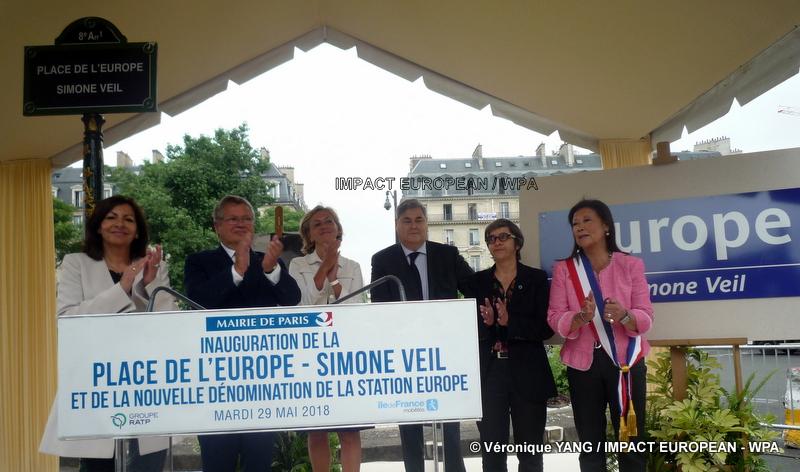 L'ancienne Présidente de l'Europe donne son nom à la place de l'Europe.