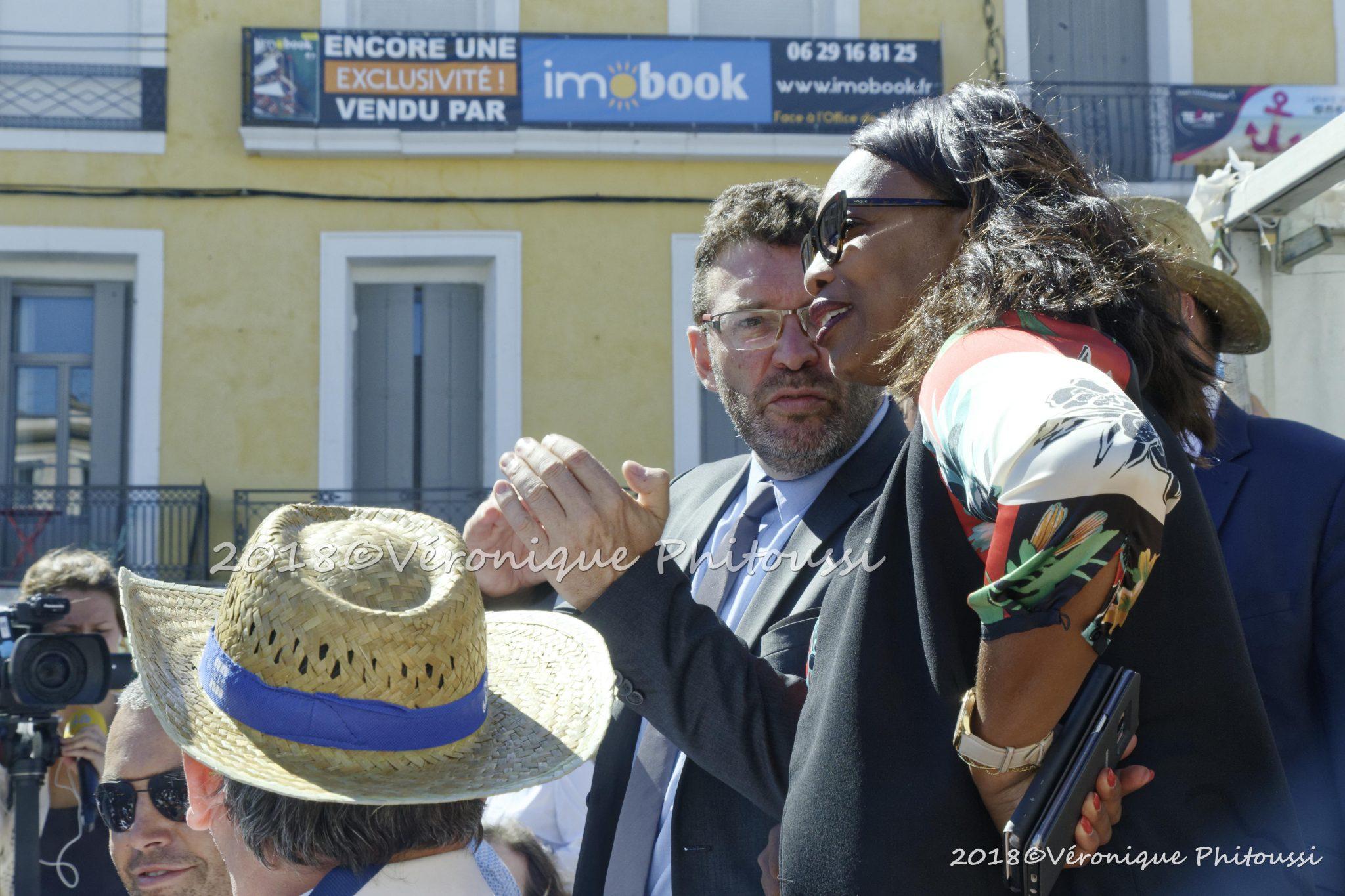 Laura Flessel assiste à la finale des Poids Lourds de la 276e édition de la Saint-Louis à Sète