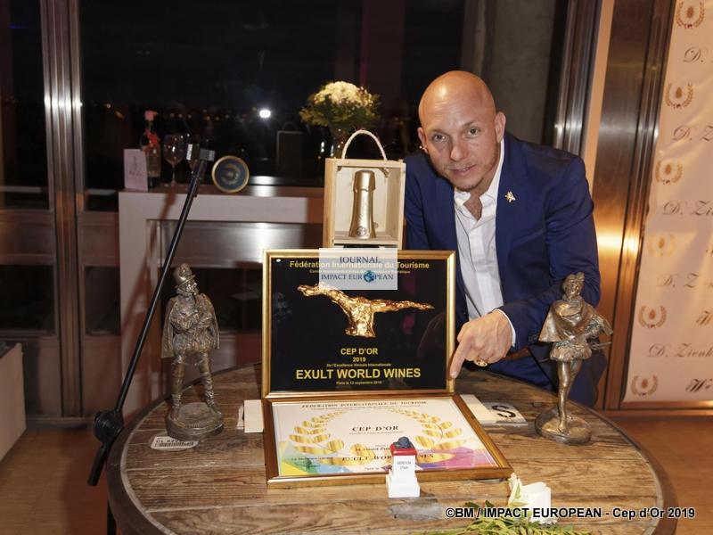 Le Cep d'Or 2019 de l'excellence de la gastronomie internationale a récompensé David Zienkiewicz