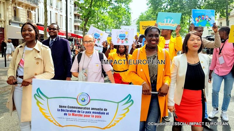 6ème Commémoration annuelle de la Déclaration pour la Paix Mondiale et de la Marche pour la Paix