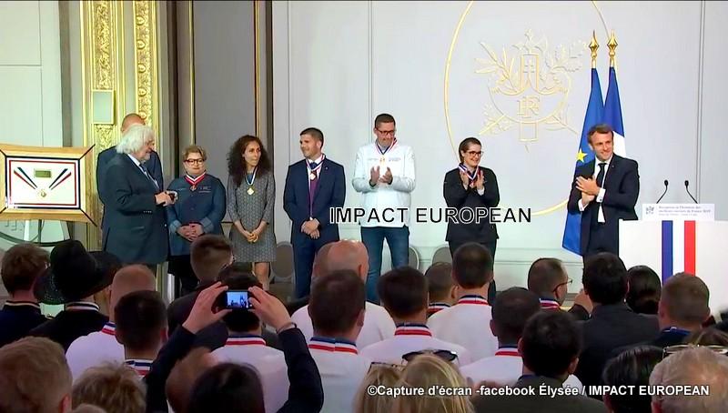 """L'excellence professionnelle """"Made in France"""" honorée à l'Elysée"""