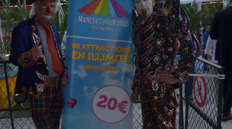 Inauguration de la Fête des Tuileries en faveur d'associations