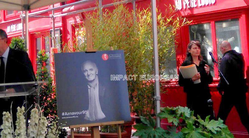 Plaque commémorative et concert d'hommage pour les 95 ans de Charles Aznavour