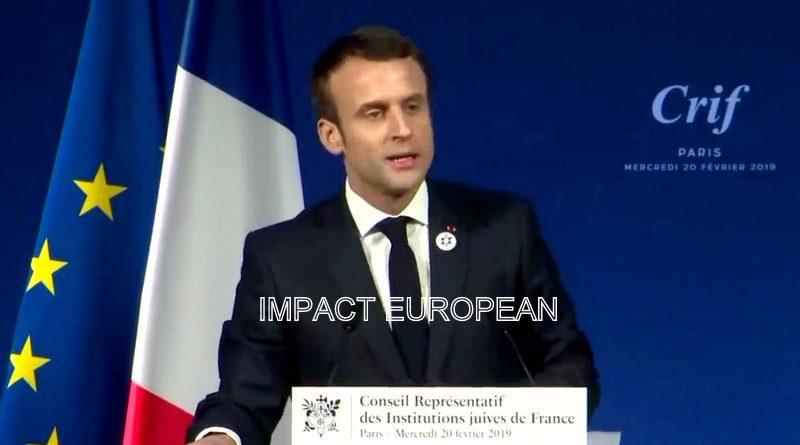 Macron au dîner du Crif a fait une série d'annonces pour lutter contre l'antisémitisme