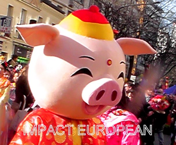 Le cochon de terre accueilli par un défilé dans le Chinatown parisien