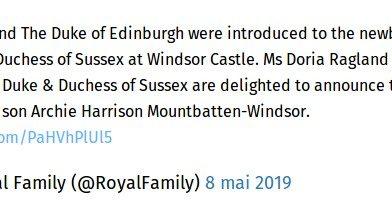 Le prince Harry et Meghan ont appelé leur fils Archie